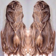 Lace braids by @MimiaMassari