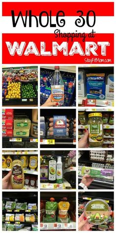 Long list of Whole30 foods you can find at Walmart!