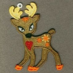FSL Reindeer 7 - 4x4 | FSL - Freestanding Lace | Machine Embroidery Designs | SWAKembroidery.com Ace Points Embroidery