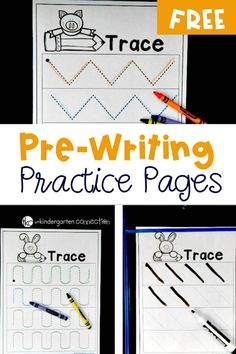 Simple Free Pre-Writing Printables to help children practice important skills that are crucial for future handwriting skills and techniques. Handwriting Practice Free, Pre Writing Practice, Handwriting Activities, Teaching Handwriting, Writing Activities For Preschoolers, Kindergarten Writing Activities, Writing Worksheets, Kindergarten Teachers, Literacy