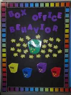 Box Office Behavior - chart student behavior with  this fun idea!
