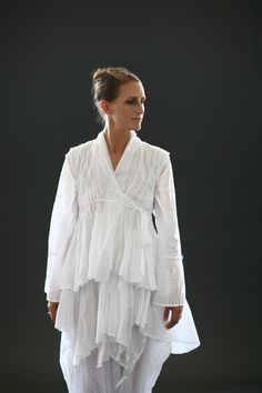 white fine coton shirts and pants 2011 by Rakefet Levy.