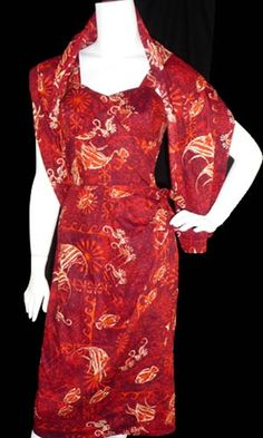 Vintage Alfred Shaheen dress and wrap