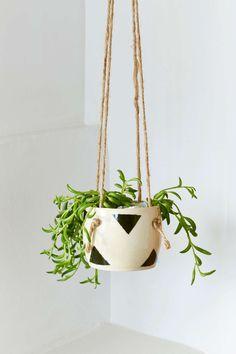Small Spells Triangle Handmade Hanging Planter |