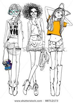 funky urban fashion illistration