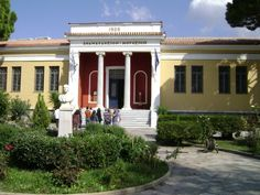 Archaeological Museum of Volos - Wikipedia, the free encyclopedia Ancient Greek Theatre, Roman Roads, Ancient Ruins, Medieval Castle, Thessaloniki, Travel Around, Greece, National Parks, Mansions