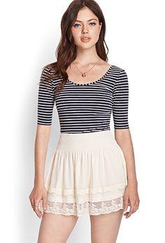 Swiss Dot Lace Skirt   FOREVER21 - 2000106608