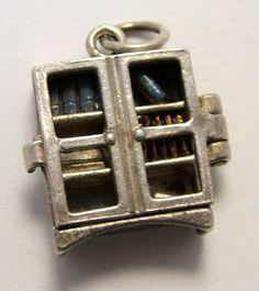 Opening bookcase charm - Sandys Vintage Charms