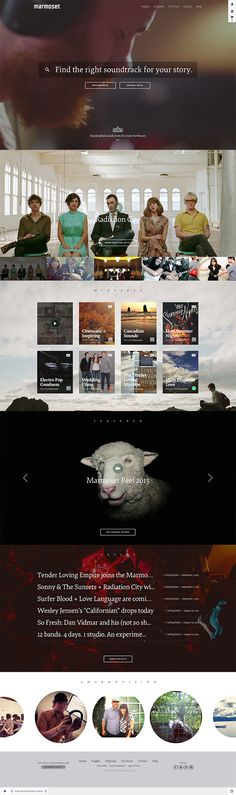 Beautiful photography and parallax scrolling - we love this website design. | marmosetmusic #webdesign #parallax
