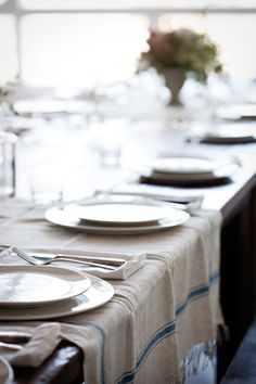 The fouta can be used as a lovely tablecloth