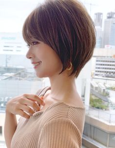 Pixie Hairstyles, Cute Hairstyles, Short Hair Cuts, Short Hair Styles, Prity Girl, Night Aesthetic, Cute Coats, Grow Out, Asian Woman