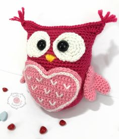 """Owl Will Always Love You"" Valentine Caddy Crochet Pattern 