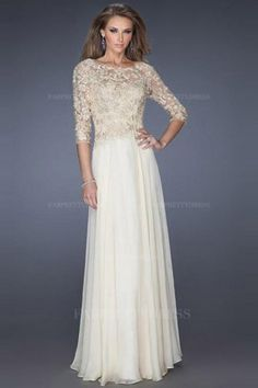 My fav! Comes in every color you can imagine. A-Line/Princess Jewel Floor-length Chiffon Lace Evening Dress Cocktail Dresses Online, Evening Dresses Online, Chiffon Evening Dresses, Cheap Evening Dresses, A Line Prom Dresses, Womens Cocktail Dresses, Cheap Prom Dresses, Wedding Dresses, Dress Online