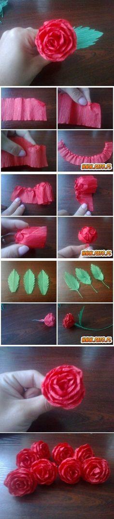 DIY Crepe Paper Rose