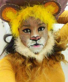 Gosto muito de você leãozinho🦁🎭 #maquiagemartística  #leão