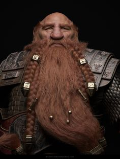 "artist Michael Robson takes us through the process of creating the hair from his latest personal project ""Magni, King of the Ironforge"" using XGen and Maya… Game Character, Character Concept, Character Design, D D Characters, Fantasy Characters, Dwarf Paladin, Fire Crown, Dwarf Fortress, Baba Yaga"