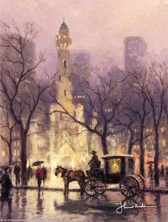 The Watertower, Chicago by Thomas Kinkade