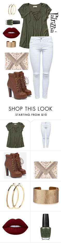 Patrizzia02.10.2016a by patrizzia on Polyvore featuring moda, Hollister Co., JustFab, LULUS, Panacea, Pieces, Lime Crime and OPI