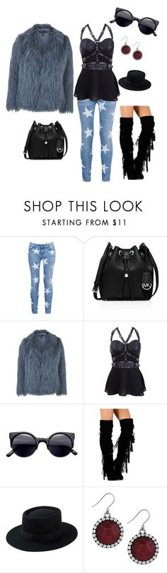 """go out"" by gigiwhoot ❤ liked on Polyvore featuring moda, STELLA McCARTNEY, MICHAEL Michael Kors, Topshop e Lucky Brand"