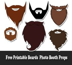 We have made some cute and adorable Free Printable Beards Photo Booth Props. You can use these props on just any evet or occasion to add some fun to your photographs Fall Photo Booth, Diy Party Photo Booth, Wedding Photo Booth Props, Birthday Photo Booths, Baby Shower Photo Booth, Photo Props, Wedding Shoot, Wedding Ideas, Western Photo Booths