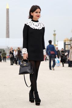 Street Style at Paris Fashion Week S'14. Photo by Anthea Simms.