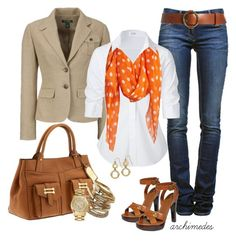 """""""Lauren"""" by archimedes16 ❤ liked on Polyvore featuring Lauren Ralph Lauren, Étoile Isabel Marant, Steffen Schraut, Dorothy Perkins, MICHAEL Michael Kors, skinny jeans, gold bangles, polka dots, top handle bags and blazers"""