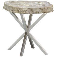 Palecek Petrified Wood Asterisk Side Table