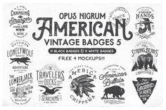 American Vintage Badges 5 by OpusNigrum on @creativemarket