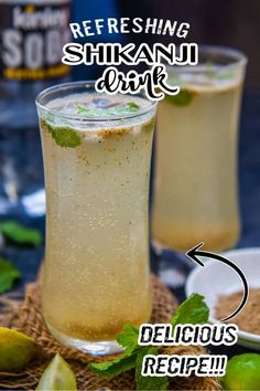 Lime Drinks, Refreshing Drinks, Summer Drinks, Watermelon Mojito, Indian Drinks, Non Alcoholic Drinks, Beverages, Lemon Drink, Chaat Masala