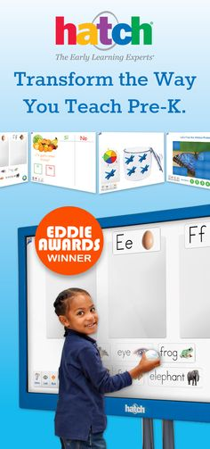 Transform the way you teach pre-K with the Hatch Interactive Display and Whiteboard. Complete with over 1,100 activities make circle time easy for teachers and fun and engaging for students! Check it out!