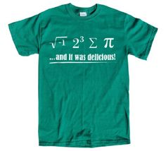 Rocket Factory I Ate Some Pie Math Equation t-shirt-Green-Small Rocket 1c9f76bec