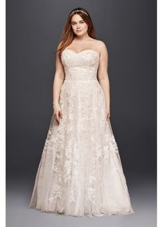 bf3774878cda Melissa Sweet Lace A-Line Plus Size Wedding Dress 8MS251174 Plus Size  Wedding Gowns,