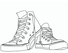 this is the converse line art i made. tiring design converse line art Colouring Pages, Coloring Books, Drawing Sketches, Art Drawings, Contour Line Drawing, Digital Stamps, Chuck Taylors, Art Lessons, Line Art