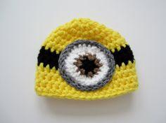 Crochet Baby Boy Girl Despicable Me Minion Hat