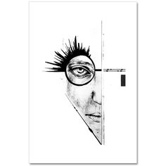 """➖ The Insight ➖  45 H x 30 W x 0.3 cm Ink and pencil drawing on paper, created to illustrate the concept and mood behind my collection. •   """"Constant self-reflection, INTROSPECTION is the key to gain knowledge about ourselves and to determine the inner barriers which hold us back from being the best persons we can be.""""  •  Get your hand signed piece here: www.katharinapurkarthofer.com/art-shop/the-insight"""