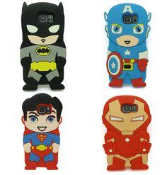 Galaxy S8 Plus Batman Cover Cute 3D Superman Captain Case for Samsung Galaxy S8 Plus Superhero phone cases