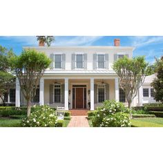 Colonial House Exteriors, Colonial Exterior, Colonial House Plans, Porch House Plans, Southern Living House Plans, Traditional Exterior, Modern Colonial, Lowcountry House Plans, Traditional Homes