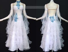 ballroom dance apparels for women ballroom dancing attire:BD-SG2601 ~the blue needs to go across the shoulders, not around the neck~