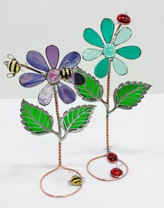3D Self-standing Stained Glass Flower with by PowerGlassCreations