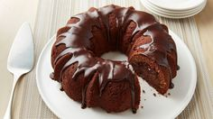 """This recipe, arguably the recipe most closely identified with the Bake-Off® Contest, mysteriously develops a """"tunnel of fudge"""" filling as it bakes.  Don't scrimp on the nuts, or it won't work!"""