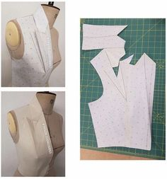 How to use a French curve for alternating a pattern Sewing Hacks, Sewing Tutorials, Sewing Projects, Techniques Couture, Sewing Techniques, Dress Sewing Patterns, Clothing Patterns, Textile Manipulation, Sewing Collars