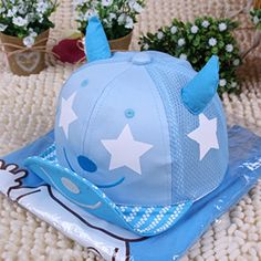 603ca009d511c Spring Summer Smile Face Embroidery Mesh Baseball Caps (mesh light blue).  nokini henry · baby hats