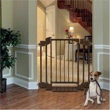 Doors Gates Auto Deluxe Pet Gate Indoor Dog Fence Outdoor