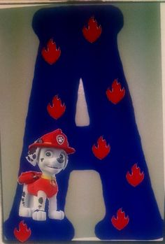Paw Patrol Wood Letter/ Initial sign by MelsCraftRoom on Etsy  Mention you saw my item on Pinterest and get 10% off your order by using coupon code PIN10