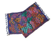 Handwoven Guatemalan textile Embroidered Floral by IKALAoutfitter