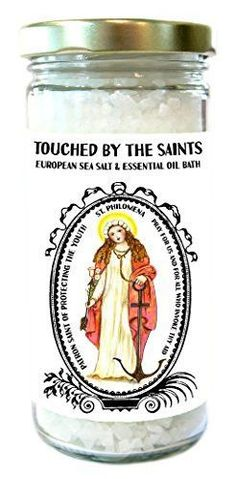 Saint Philomena Patron of Protecting the Youth European Sea Essential Oil Lavender Bath Salts