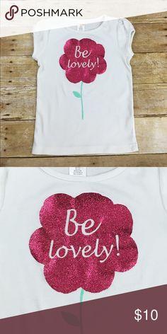 "Gymboree Glitter Flower T-shirt Gymboree Glitter Flower T-Shirt, size Small Approx measurements: (flat lat)    Pit to pit - 12""    Length - shoulder length to hem - 17"" Gymboree Shirts & Tops Tees - Short Sleeve"