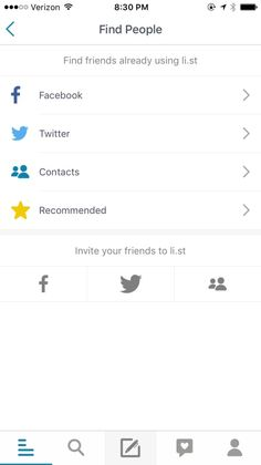 The List App - Create and Share Lists About Anything and Everything Screenshots