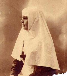 Lovely Vintage Portrait of a Nun--Or Nurse--in Her Habit --Circa 1920s.