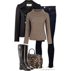A fashion look from December 2014 featuring Minuet Petite sweaters, Yves Saint Laurent coats and J Brand jeans. Browse and shop related looks.